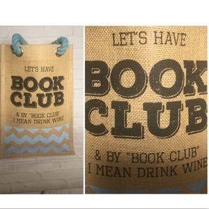 Book Club Wine tote like new
